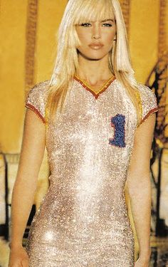 Valeria Mazza for Atelier Versace - Spring - Summer 1995  Ritz Hotel - Music by Prince. Anything else?!