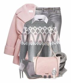 """""""Oversized Pink Coat"""" by Look Fashion, Hijab Fashion, Winter Fashion, Fashion Outfits, Womens Fashion, Winter Chic, Chic Outfits, Winter Outfits, Mode Gossip Girl"""