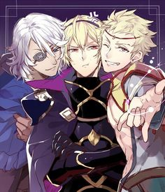 Zero, Leo and Odin - Fire Emblem Fates
