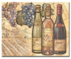 Multnomah Falls Art Wine Bottle Shaped Tempered Glass Cutting Board,Oregon Scenery Housewarming Gift