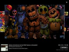 On Diom! All the animatronics from FNAF plus MANGLE, TOY CHIKA and look at Bb!