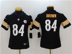 13 Best Steelers Antonio Brown Black Authentic Jersey For Women's  for sale