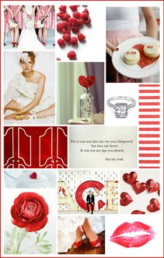 What could be more romantic than red and white?