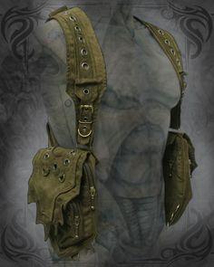 $129 - Viking Holster Bag - [ever green/ever green/brass/black nickel] [onyx black/platinum grey/brass]
