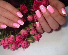 Accurate nails, Evening nails, Exquisite nails, Long french manicure, Long…