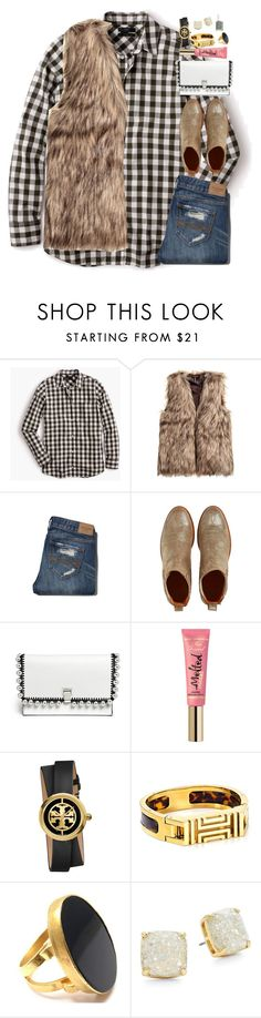 """""""Goin to the mall with my best friend today!"""" by classyandsassyabby ❤ liked on Polyvore featuring J.Crew, Abercrombie & Fitch, Penelope Chilvers, Proenza Schouler, Too Faced Cosmetics, Tory Burch, Yossi Harari, Kate Spade and Essie"""