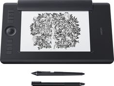 Wacom - Intuos Pro Paper Edition Pen Tablet (Medium) - Black