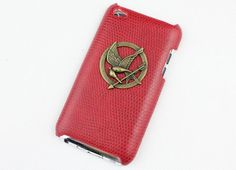 hunger games mockingjay And Red Hard Case Cover for Apple Ipod Touch 4, iPod Touch 4th,iTouch 4,iPod Touch 4gen Hard Case Cover. $7.99, via Etsy.