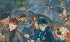 The Umbrellas - Pierre-Auguste Renoir, 1881-1886. National Gallery, London UK. #Renoir. Dublin pressures London to return priceless impressionist paintings Forthcoming Easter Rising celebrations in Ireland revives 100-year tussle over ownership of celebrated works by Renoir, Monet and Manet. Hugh Lane Gallery, 39 paintings in art collection was originally left to the National Gallery in London by the Cork-born art collector Sir Hugh Lane, who died on the Lusitania when it was sunk by a…