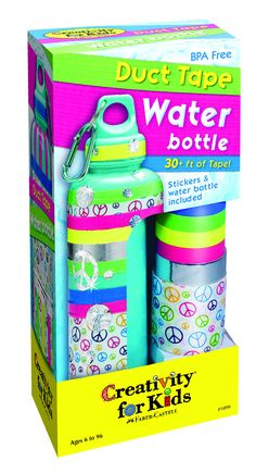 Creativity for Kids - Duct Tape Water Bottle - By Faber-Castell