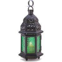 Green Glass Moroccan Lantern (1 Lantern)