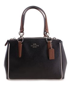 $244.99 marked down from $375! COACH Mini Christie Shoulder Bag #zulilyfinds #coach #black