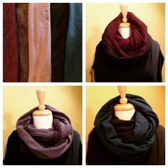 Upcycled Jersey Infinity Scarves - Frock & Dilettante / S Switzer / Made in Canada Winter Fashion 2014, Frocks, Infinity, Upcycle, Scarves, Fall Winter, Take That, Canada, How To Make