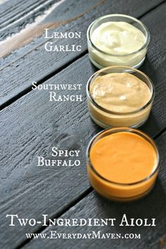 How To Make Two Ingredient Aioli with Tessemae's. 1 egg + Tessemae's Dressing and you have the tastiest, easiest Aioli you have ever made! Sauce Recipes, Paleo Recipes, Real Food Recipes, Cooking Recipes, Yummy Food, Curry Recipes, Shrimp Recipes, Aioli Sauce, Marinade Sauce