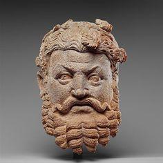 Head of Dionysos, 4th–5th century  Pakistan (ancient region of Gandhara)  (Metropolitan Museum)