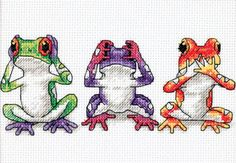 Tree Frog Trio Counted Cross Stitch