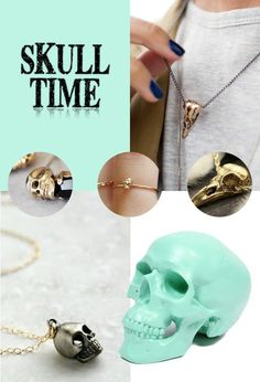 skull jewelry madewithlof