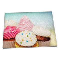 Cute pink #cupcakes sweet #glass #chopping board 021,  View more on the LINK: http://www.zeppy.io/product/gb/2/322086479263/