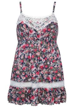 Plus Size Womens Floral Print Sleeveless Cami Top With Crochet Trim Size 24-26 Multi YoursClothing http://www.amazon.com/dp/B00J85WQ5K/ref=cm_sw_r_pi_dp_7hpavb13NQ48S