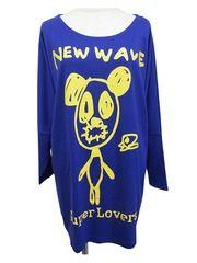 NEW WAVE Panda BIG T-Shirt Skyblue. See more at http://www.cdjapan.co.jp/apparel/superlovers.html #harajuku #superlovers