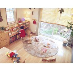 Overview/ラグ/ニトリ/子どもスペース/円形ラグ/おもちゃ収納...などのインテリア実例 - 2015-11-19 07:17:50