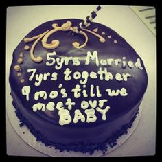 How to tell your S.O. that you're pregnant. #pregnancyannouncement #pregnancy #cake