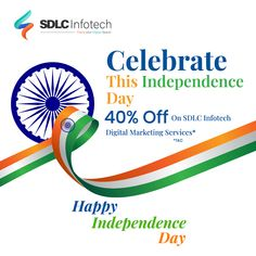 Celebrate this independence day with up to 40% discount on high-quality digital marketing services. Call now for more details. ______________ #independenceday2020 #independenceday #independencedayoffer #digitalmarketingservicesinindia #sdlcinfotech #digitalmarketingagencyinindia #seo2020 #discountoffer Iphone App Development, Software Development, Innovation Strategy, Seo Consultant, Seo Optimization, Positive Images, Reputation Management, Happy Independence Day, Effective Communication