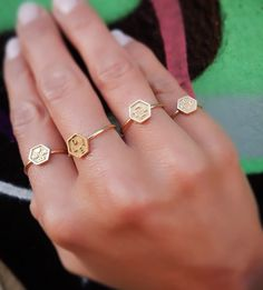 Exagoni rings, personalize your very own⚡️