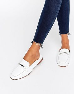Faith | Faith Backless Leather Loafers