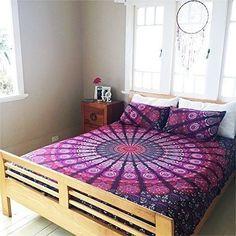 Pink Mandala Ethnic Hippie Comforter Blanket Doona Duvet Quilt Cover Full/Queen #Unbranded #Traditional