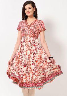Cotton Printed Off White Kurta Online Shopping - Biba | BI021WA13RYKINDFAS
