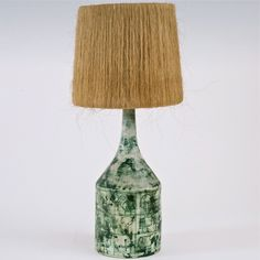 Jacques Blin - Large Ceramic Lamp Base with his genuine shade. www.galerieriviera.com