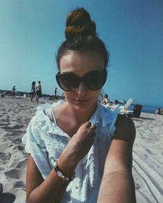 #excited #forthe #future  #Sopot #beach #beachselfie #sunglasses #balticsea…