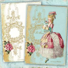 French Note Cards  Marie Antoinette Le Secret  Shopping spree in Paris $14.99