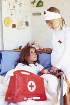 DRAMA: Dramatic Play Ideas: Dramatic play can be fun, especially playing things such as nurse. You can connect this to a lesson about how some jobs, adults help others, like nurses help people that are hurt.