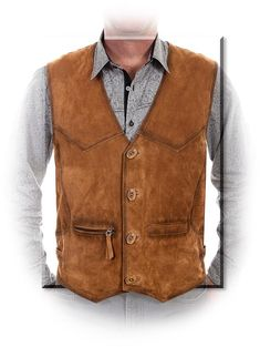 Buffed Lamb's Leather Vest Product Details The lamb's leather is soft and supple and over Mens Leather Waistcoat, Leather Vest, Leather Jackets, Pink Leather, Western Vest, Cowboy Vest, Outdoor Wear, Outdoor Travel, Business Casual Men
