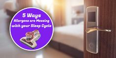 Ways in Which Allergies can Disturb your Sleep Cycle Vacuum Cleaner For Home, Vacuum Cleaners, Itchy Eyes, Car Vacuum, Allergy Symptoms, Runny Nose, 5 Ways, Clean House, Cleaning Hacks
