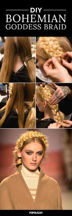 DIY the gorgeous bohemian braids from the Mara Hoffman Fall 2015 show.