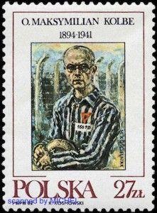 Maximilian Kolbe auf polnischer Briefmarke von 1982
