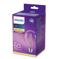 Philips LED /светодиодна/ лампа Глобус 60W G93 E27 WW CL ND 1CT/4 871869674245700