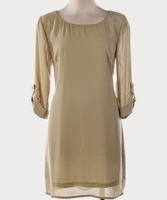 Neutral shift dress