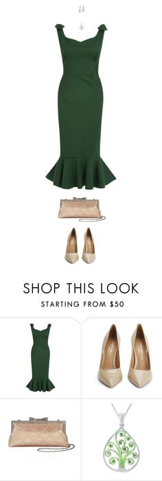 """Emerald Dreams"" by polylana on Polyvore featuring Kurt Geiger, Kevin Jewelers, women's clothing, women, female, woman, misses, juniors and GreenDress"