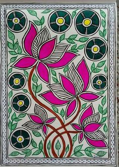 40 Simple And Easy Gond Painting Designs For Art Lovers - Free Jupiter Madhubani Paintings Peacock, Madhubani Art, Indian Art Paintings, Kalamkari Painting, Gond Painting, Fabric Painting, Lotus Painting, Painting Doors, Painting Flowers