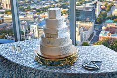 Downtown Raleigh skyline is the perfect accent for your cake.