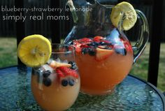 Blueberry-strawberry lemonade- Mothers Day Guide~From Morning to Night