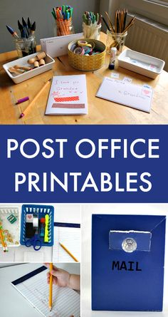Post office printables for kids, classroom post office printables, printable envelope, dramatic play center for classroom, post office pretend play, practical writing activity for kids