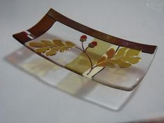 Oak Leaf Platter - Delphi Stained Glass