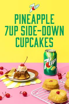 Pineapple Upside-Down Cake just got single-serve and super cute. Made light and fluffy with 7UP in the cake batter, make them at your next party or just for fun. #DoMoreWith7UP