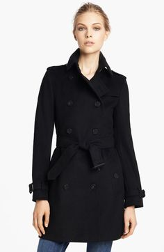 Burberry London Double Breasted Wool & Cashmere Coat available at #Nordstrom