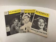 3-Lauren-Bacall-Playbills-Woman-of-the-Year-Cactus-Flower-Applause-66-70